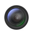 realistic detailed 3d camera lens vector image