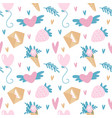 seamless pattern for valentine s day in vector image vector image