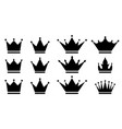 set crown icons royal crown icons collection vector image