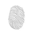 set fingerprints icons id security identity vector image
