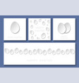 set happy easter minimalistic cards vector image