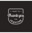 Set of badges with thank you graphics and design vector image vector image