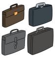 set of briefcase vector image