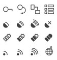 set of icons for mobile application a set of 16 vector image