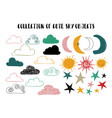 set of isolated sky elements vector image