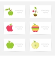 Set of logos of apples vector image