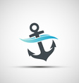 Ship anchor and wave vector image