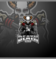 skull gunners esport mascot logo vector image vector image