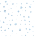 Snowflakes Seamless Pattern in Flat Design vector image vector image