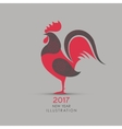 symbol 2017 on chinese calendar vector image