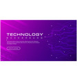 technology banner purple background concept vector image