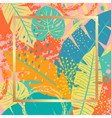 tropical background with colorful leaves vector image vector image