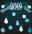 vegetables and fruits in form of new years toys vector image