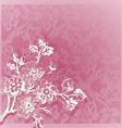vintage hand drawn corner border pink vector image