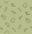 vintage stuff outline isometric pattern vector image