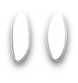 White oval backgrounds set vector image vector image