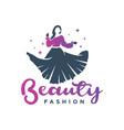womens clothing logo design vector image vector image