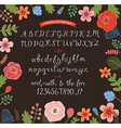 Handwritten alphabet vector image
