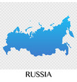 russia map in europe continent design vector image