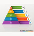 infographic multilevel pyramid with numbers vector image