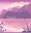 twilight northen background vector image