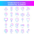 25 blue and pink futuro essential element icon vector image vector image