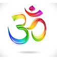 Abstract colorful OM sign over white vector image