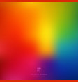 abstract smooth blurred colorful bright rainbow vector image