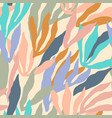 artistic seamless pattern with abstract leaves vector image vector image