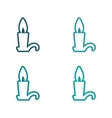 assembly sticker bright burning candle on a white vector image vector image