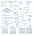 Baroque Ornaments Design Set vector image