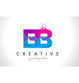 bb b b letter logo with shattered broken blue
