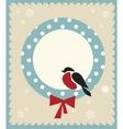 bullfinch bird christmas card template vector image vector image