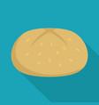 bun icon flat style vector image vector image