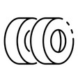 car tyres icon outline style vector image vector image