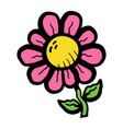 cartoon flower vector image vector image