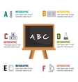 cartoon infographic education board isolated vector image vector image