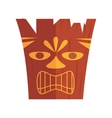 carved hawaiian tiki design vector image