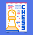 chess game creative advertising poster vector image vector image