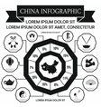 China infographic elements simple style vector image vector image