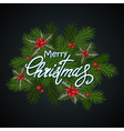 Christmas background dark vector image vector image