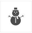 christmas icon snowman icon vector image