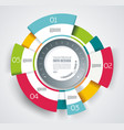 circle segments infographic design use vector image vector image