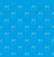 coconut cocktail pattern seamless blue vector image vector image