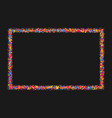 colorful explosion of confetti vector image