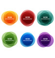 colorful round shape abstract banners vector image vector image