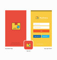 company police id splash screen and login page vector image