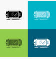 console device game gaming psp icon over various vector image vector image