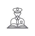 criminal law line icon concept criminal law vector image vector image