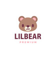 cute bear flat logo icon vector image